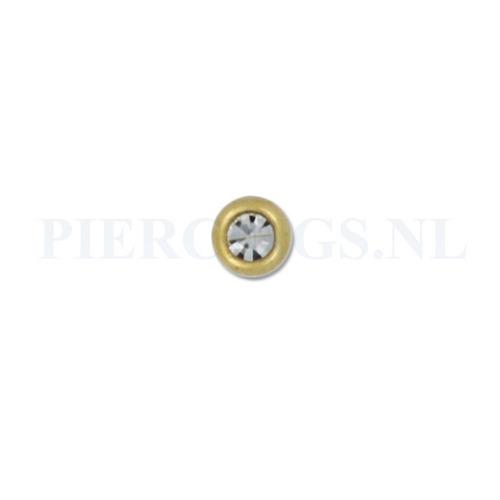 Balletje 1.2 mm 3 mm goud kleur kristal