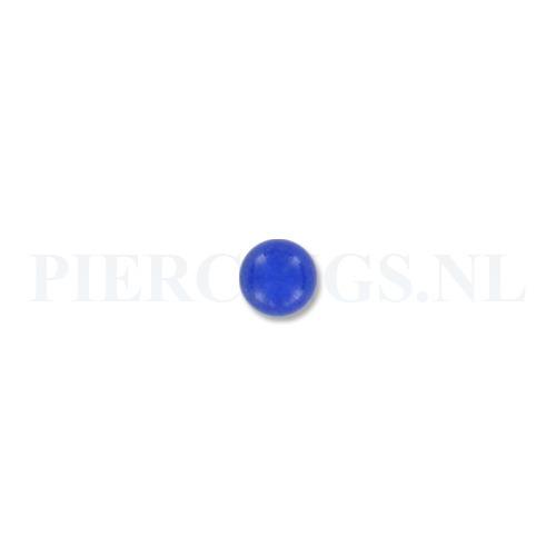 Balletje 1.6 mm acryl blauw bruis