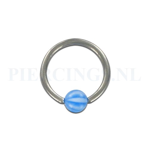 BCR 1.2 mm strandbal blauw