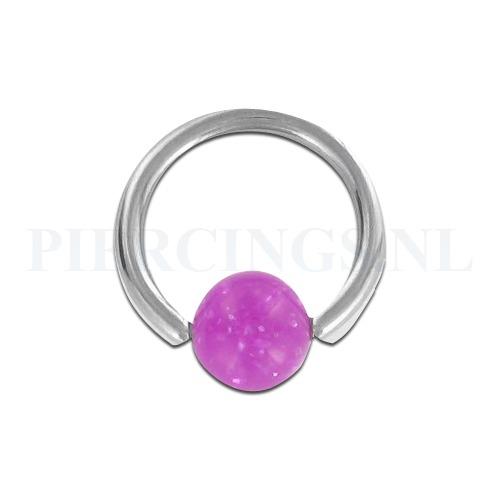 BCR 1.6 mm acryl paars glitter