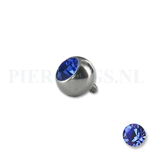Dermal balletje 1.2 mm blauw 5 mm