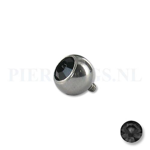 Dermal balletje 1.2 mm zwart 5 mm