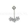 Oorbel hanger bloemetjes kristal