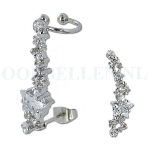 Oorsteker - helix kristal ster