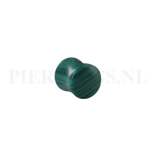 Plug groen agaat 12 mm 12 mm