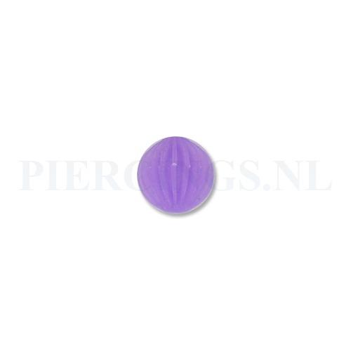 Tongpiercing tickler bal paars