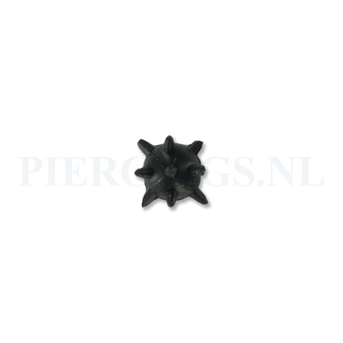 Tongpiercing Tickler spike zwart
